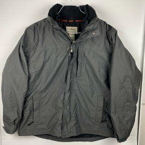 LL Bean Mens Sz XXL Gray Black 3-In-1 Winter Coat